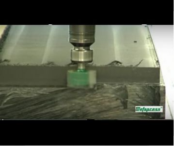 Welding and CNC processing of a plastic block